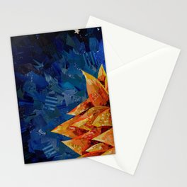 Star Bloom Collage Stationery Cards