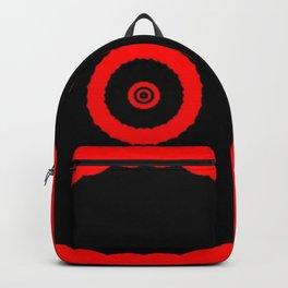 Vibrant Red and Black Bullseye Backpack