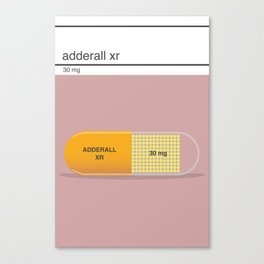 adderall xr 30mg art Canvas Print