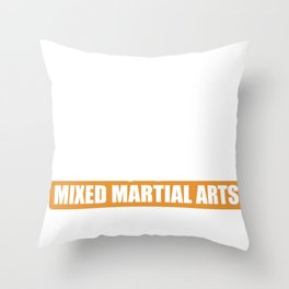 MMA Martial Arts Siluette Boxing Karate Gift Throw Pillow