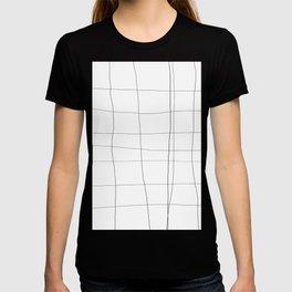 minimalist grid T-shirt
