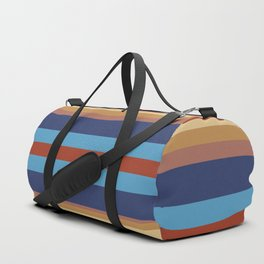Retro 70s Vintage Surfer - Blue Sand Duffle Bag