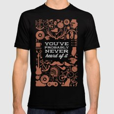 The Study of Hipsters Mens Fitted Tee Black SMALL
