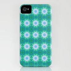 Turquoise Mosaic flowers Slim Case iPhone (4, 4s)