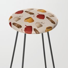 Brown Fall Style Tea and Coffee Counter Stool