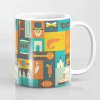 new orleans Mugs featuring New Orleans by Ariel Wilson