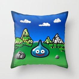 A Slime Draws Near! Throw Pillow