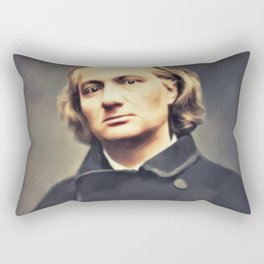 Charles Baudelaire, Literary Legend Rectangular Pillow