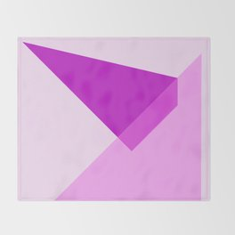Triangles No7 Throw Blanket