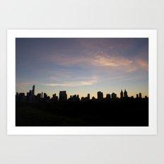New York Skyline at Dusk  Art Print