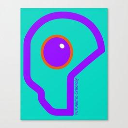 Futuristic Cyborg Logo 8 Canvas Print