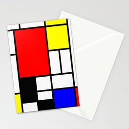 Mondrian Art Stationery Cards