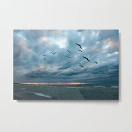 Lake Mich Metal Print