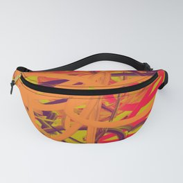 Orange Purple Green & Pink Abstract Fanny Pack