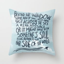 BIRD OR SOUL Throw Pillow