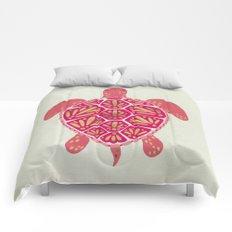 Sea Turtle – Pink & Gold Comforters