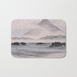 Utagawa Hiroshige - Fuji Marsh, Suruga province Bath Mat