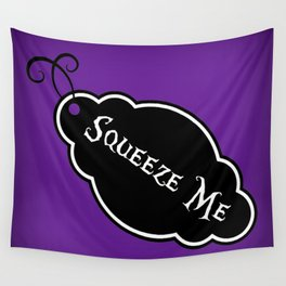 """Squeeze Me"" Alice in Wonderland styled Bottle Tag Design in 'Shy Violets' Wall Tapestry"
