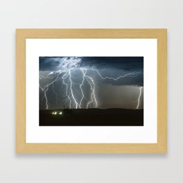 Lightning Cluster Framed Art Print