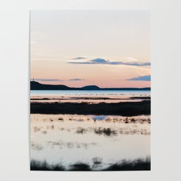 Sunset in Iceland - nature landscape Poster
