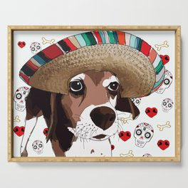 Cinco de Beagle Dog Serving Tray