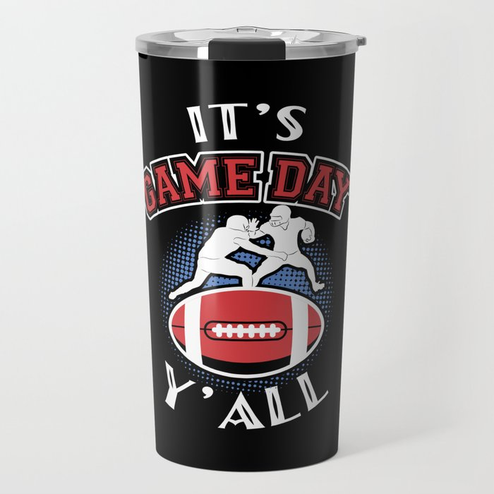 It's Game Day Y'all Football Rugby Gift Travel Mug