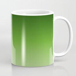 Green. Ombre . Coffee Mug