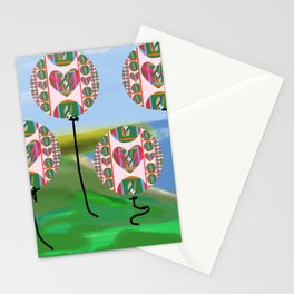 Love Balloons Protecting Guam Stationery Cards