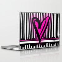 artsy Laptop & iPad Skins featuring Artsy Heart by Kathy Morton Stanion