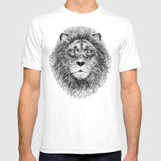 Black+White Lion Mens Fitted Tee White MEDIUM