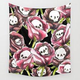 Skull roses Wall Tapestry