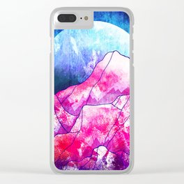 The blue planet rises Clear iPhone Case