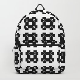 Phillip Gallant Media Design - Special Black Hash On White Backpack