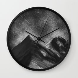 Dark Mountain Wall Clock