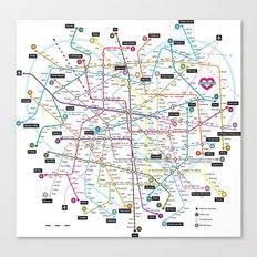 Love Map Canvas Print