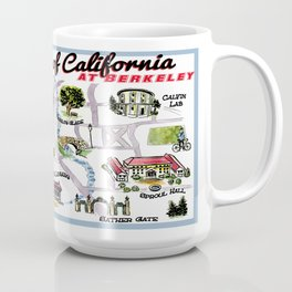 UC at Berkeley cute campus map Coffee Mug