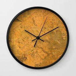 Map of Lunenburg 1864 Wall Clock