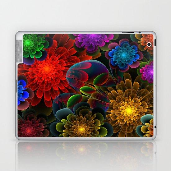 Fractal Bouquet Laptop & iPad Skin