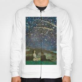 Shooting Stars, Summer Night by the Sea, Watch Hill, Rhode Island landscape by Franz Von Stuck Hoody