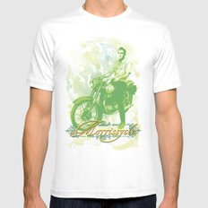 Morrissycle Mens Fitted Tee White SMALL