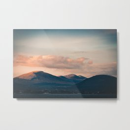Moody sunset over mountains Metal Print