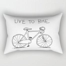 Live to Bike Rectangular Pillow