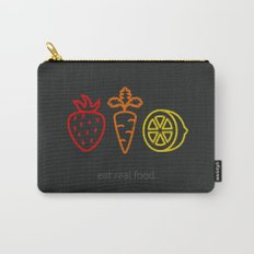 Eat Real Food. (dark) Carry-All Pouch