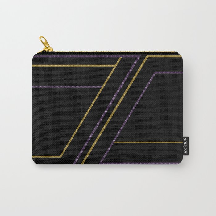 Geometry on black (abstract) Carry-All Pouch