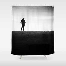 The longing | Posing on the hill Shower Curtain