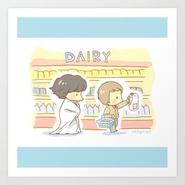 Groceries Art Print