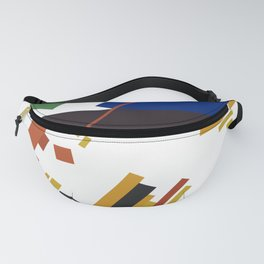 Geometric Abstract Malevic #14 Fanny Pack