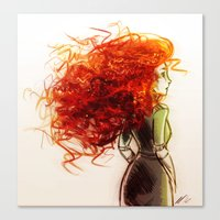 merida Canvas Prints featuring Merida by AndytheLemon