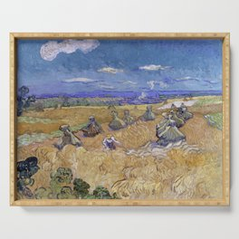 Vincent van Gogh - Wheat Fields with Reaper, Auvers (1888) Serving Tray