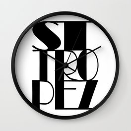 St. Tropez in black Wall Clock